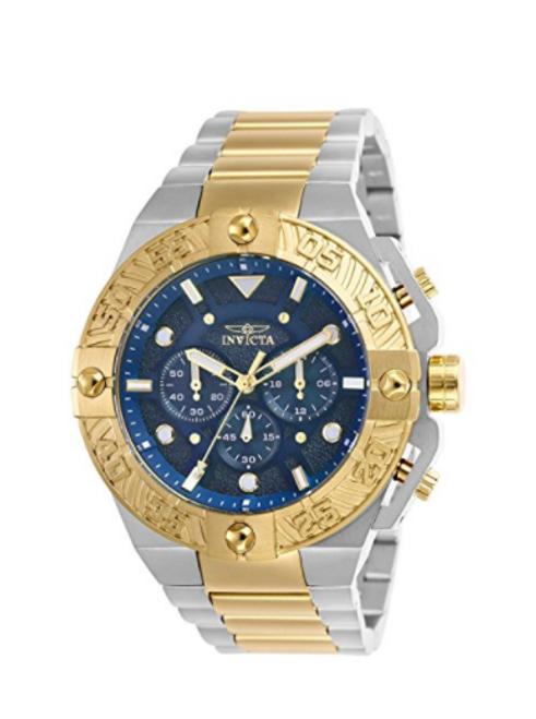 Invicta Men's 25845 Pro Diver Quartz Chronograph Blue Dial Watch