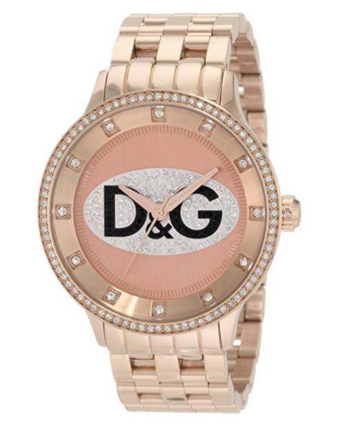 D&G Dolce & Gabbana Women's DW0847 Prime Time Triple Rose Gold D&G Logo Watch