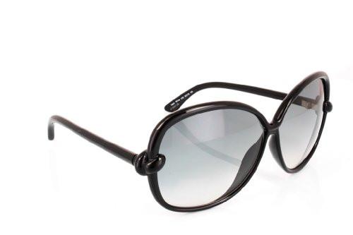 Tom Ford Ingrid FT0163 Sunglasses - 01B Black (Gray Gradient Lens) - 62mm TOM...