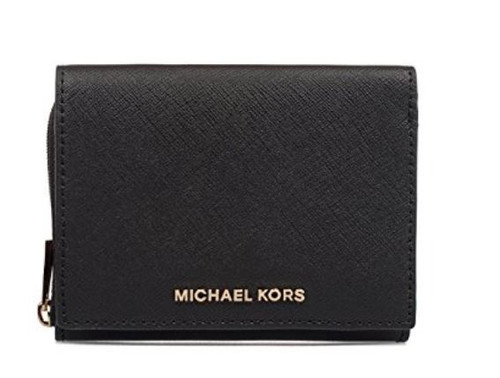 MICHAEL BY MICHAEL KORS WOMEN'S 32F6GTVF2L001 BLACK LEATHER WALLET  32F6GTVF2L-001