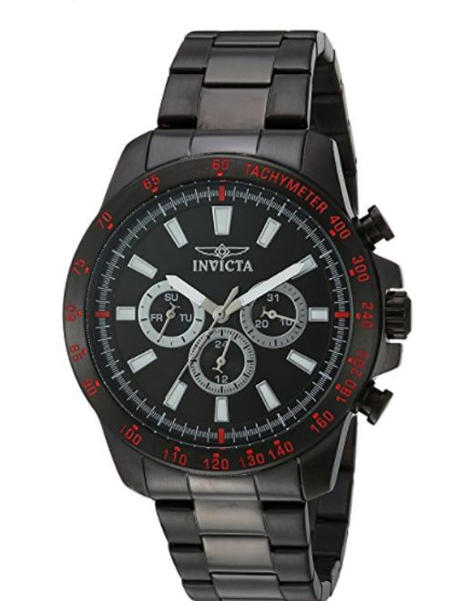 Invicta Men's 20341 Speedway Quartz Chronograph Black Dial Watch