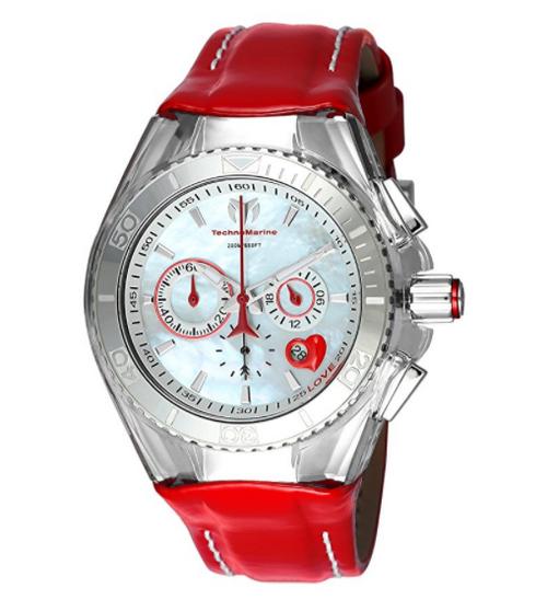 TechnoMarine Women's TM-115312 Cruise Valentine Quartz Chronograph White Dial Watch