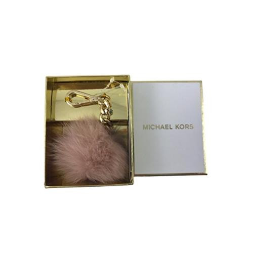 Michael Kors Small Fur Pom Pom Charm with Lobster Clasp in Ballet Pink 35H6GHCK1F-857
