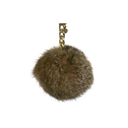 Michael Kors Medium Fur Pom Pom Charm Keychain FOB (Natural) 35F7GKCK8F-270
