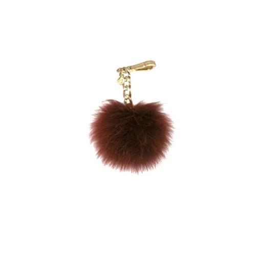 Michael Kors Medium Fur Pom Pom Charm Keychain FOB BRICK 35F7GKCK6F-616