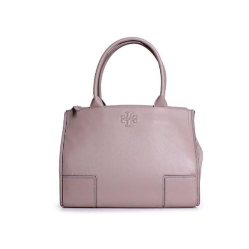 Tory Burch Ella Canvas and Leather Tote - French Gray 41159500-036