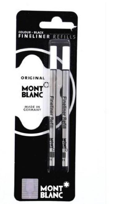 Mont Blanc 107873 Fineliner / Felt Tip Black Refill - Set of 2