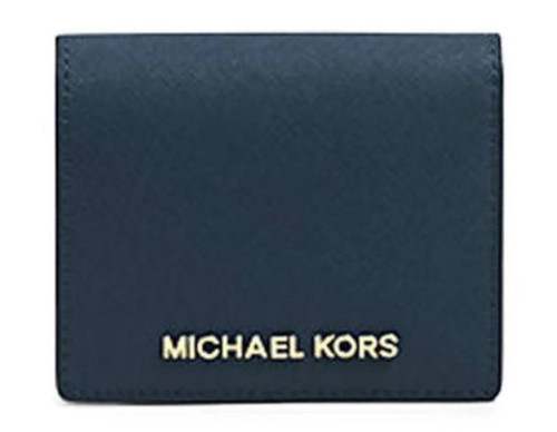 Michael Kors Jet Set Travel Flap Card Holder Navy 32T4GTVF2L-406