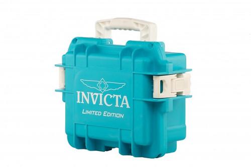 Invicta 3 Three Slot Aqua Limited Edition Impact Dive Collector Case Aqua3