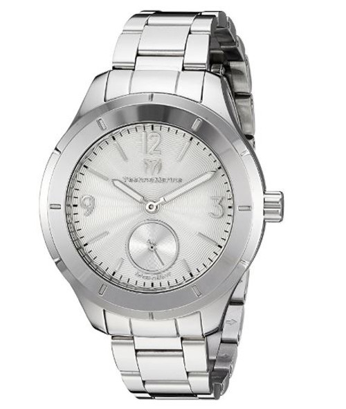 Technomarine Men's TM-117029 Moon Sun Quartz Silver Dial Watch