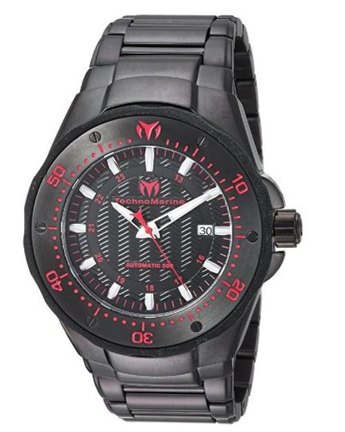 TR Men's TM-215097 Sea Manta Quartz Black Dial Watch