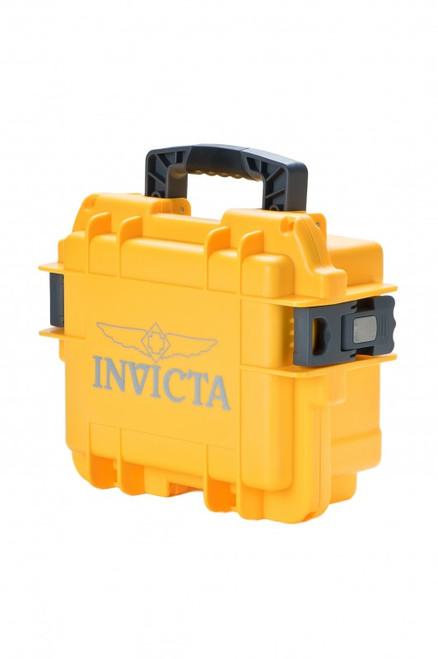 Invicta 3 Slot Watch Case Yellow DC3YEL