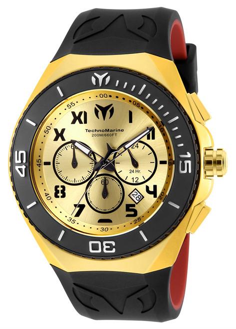 TechnoMarine Men's TM-215067 Manta Ocean Quartz Chronograph Gold, Gunmetal Dial Watch