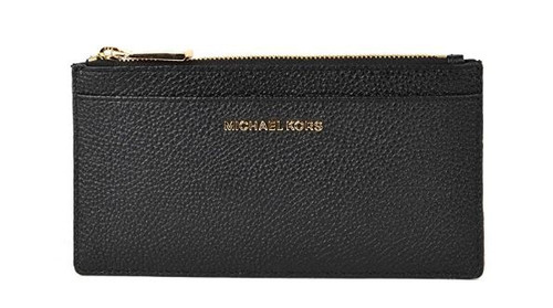MICHAEL Michael Kors Women's Jet Set Card Holder, Black, One Size 32S8GF6D7L-001