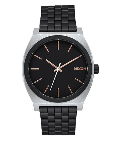 Nixon Unisex The Time Teller X High Caliber Collection Black/Rose Gold Watch …