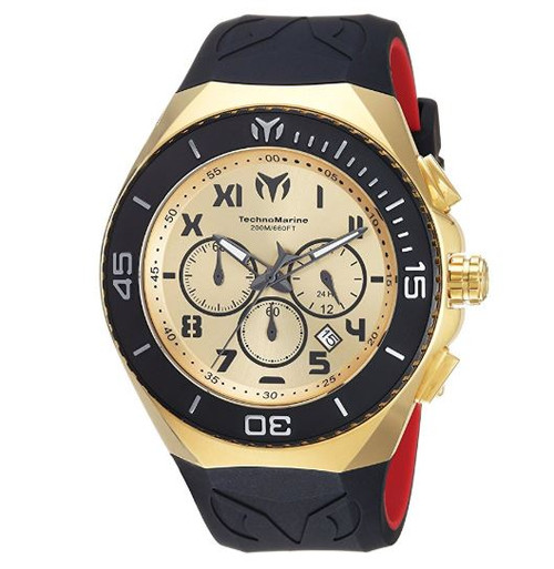 Technomarine Men's 'Manta' Quartz Stainless Steel and Silicone Casual Watch, Color:Two Tone (Model: TM-215067)