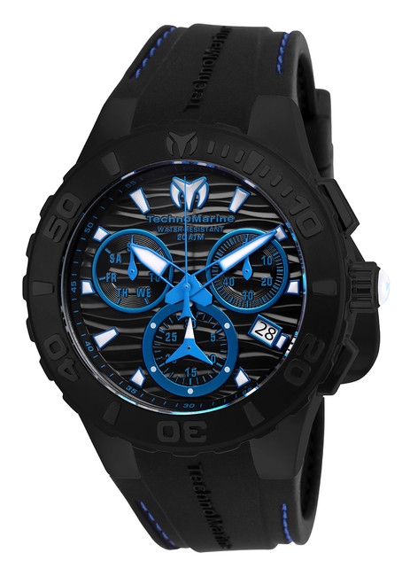 TechnoMarine Men's TM-115080 Cruise Medusa Quartz Chronograph Black Dial Watch