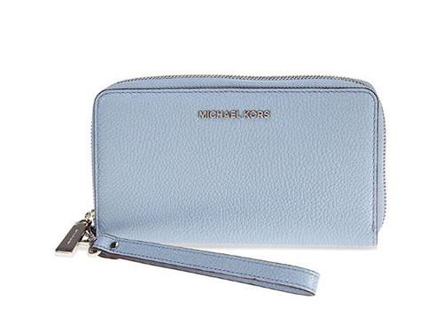 MICHAEL Michael Kors Mercer Large Leather Smartphone Wristlet - Pale Blue 32F6GM9E3L-487