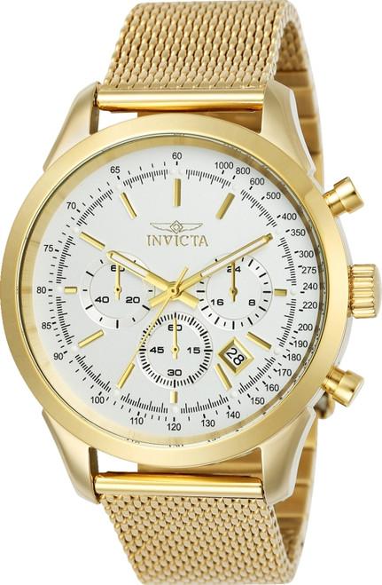 Invicta Men's 25225 Speedway Quartz Chronograph Silver Dial Watch