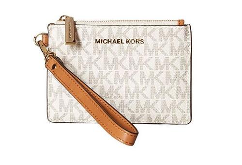 MICHAEL Michael Kors Mercer Logo Coin Purse - Vanilla 32T7GM9P1V-150