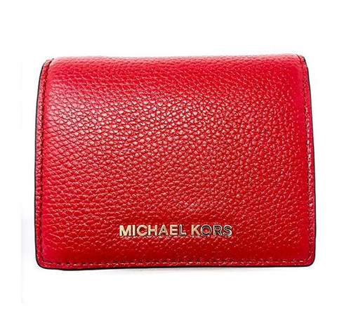 MICHAEL Michael Kors - Mercer Flap Card Holder (Burnt Red) Credit card Wallet 32T7GM9D1L-361
