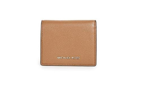 MICHAEL Michael Kors Women's Money Pieces Flap Card Holder, Acorn, One Size 32T7GM9D1L-532