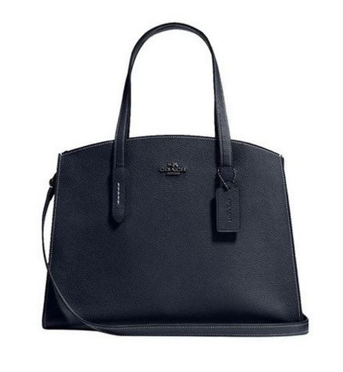 COACH Women's Polished Pebble Leather Charlie Carryall One Size 25137-DKBHP