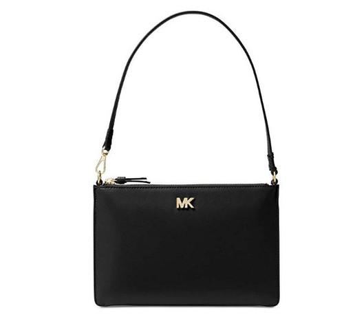 MICHAEL Michael Kors Medium Leather Convertible Pouch, Color 001 Black 32F8GF9U2L-001