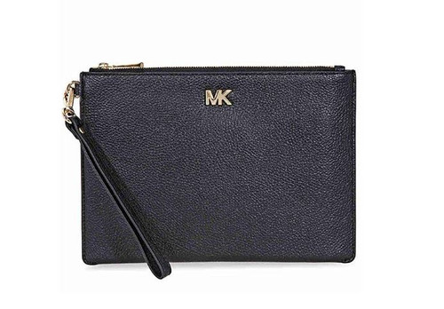 MICHAEL Michael Kors Medium Leather Pouch - Black 32S8GF9P2L-001