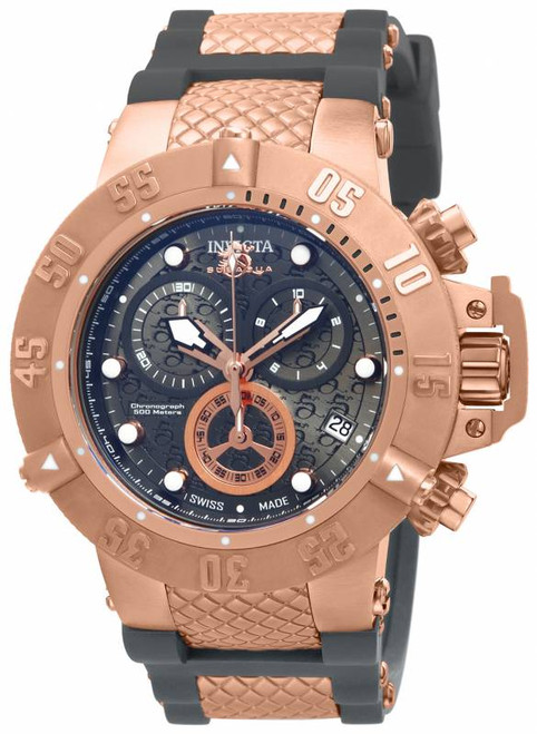 Invicta Men's 15805 Subaqua Quartz Chronograph Gunmetal Dial Watch