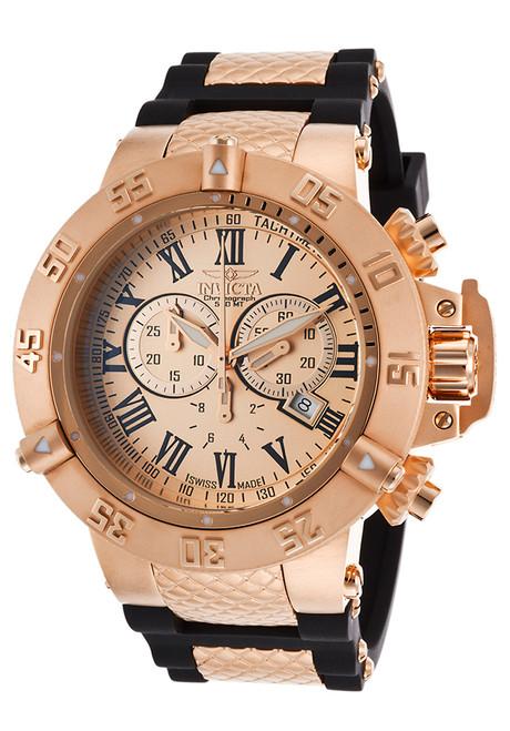 Invicta Men's 16873 Subaqua Quartz Chronograph Rose Gold Dial Watch