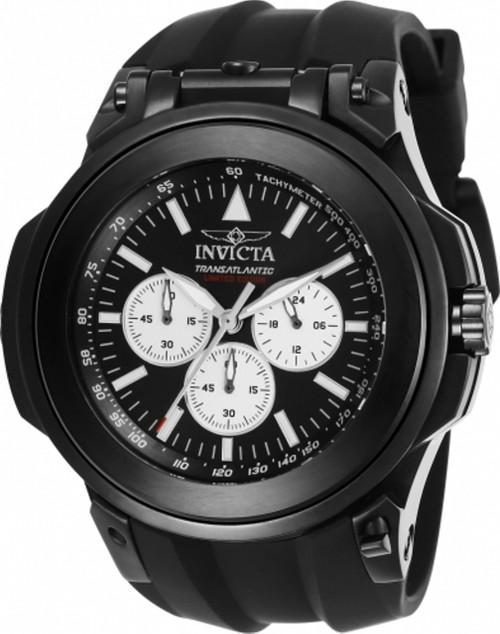Invicta Men's 25928 Reserve Quartz Chronograph Black, Green Dial Watch