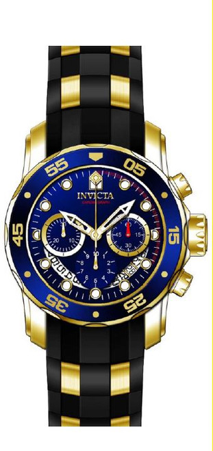 Invicta Men's 'Pro Diver' Quartz Stainless Steel and Silicone Watch, Color:Black