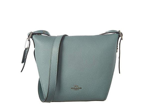 COACH Women's Small Dufflette in Natural Calf Leather Silver/Sage One Size (21377-SV/SG)