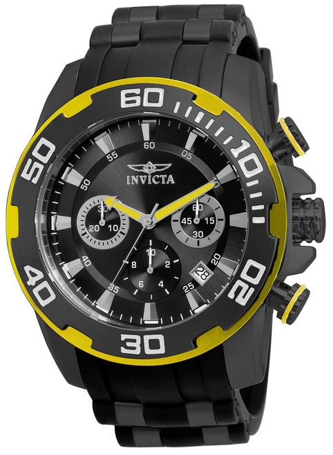 Invicta Men's 22309 Pro Diver Quartz Chronograph Black Dial Watch