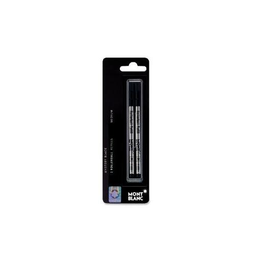 Mont Blanc Rollerball Pen Refill, Med Point, 2/Pack, Black (MNB107877) …