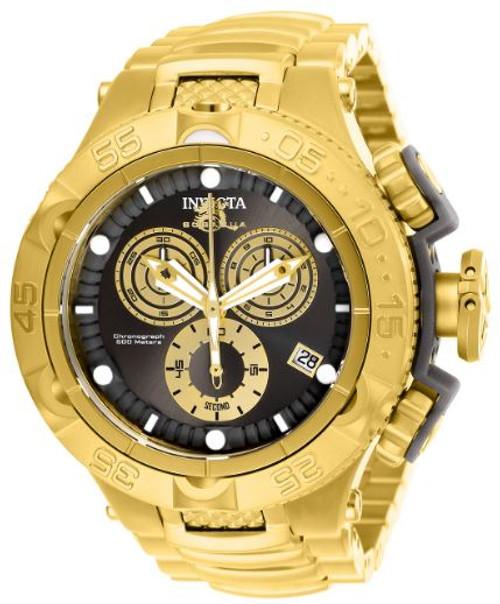 Invicta Men's 27676 Subaqua Quartz Chronograph Gold, Gunmetal Dial Watch