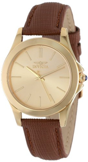 Invicta Women's 15150 Angel 18k Yellow Gold Ion-Plated Stainless Steel and ...