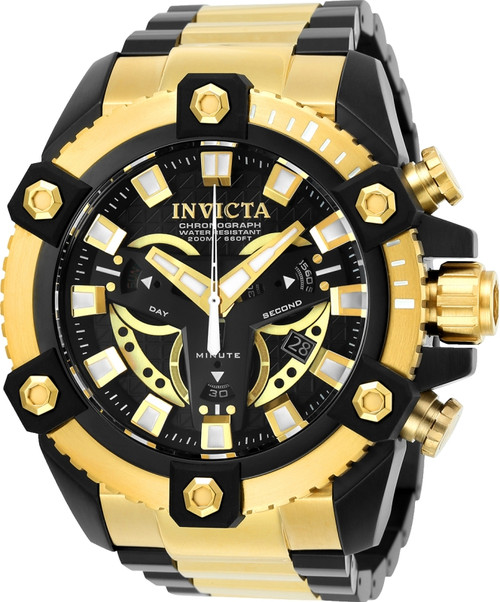 Invicta Men's 25584 Coalition Forces Quartz Multifunction Black Dial Watch