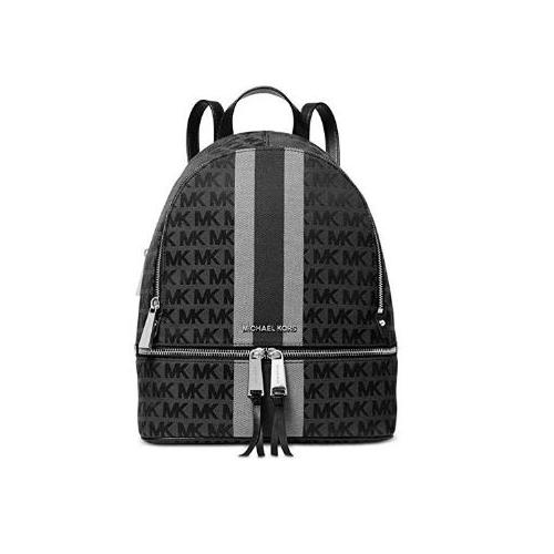 MICHAEL Michael Kors Rhea Zip Medium Backpack Black Multi One Size 30T9SEZB2C-987