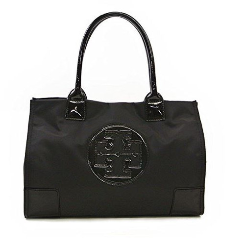 Tory Burch Nylon Mini Ella Tote Bag 50009813-009 Black/Black