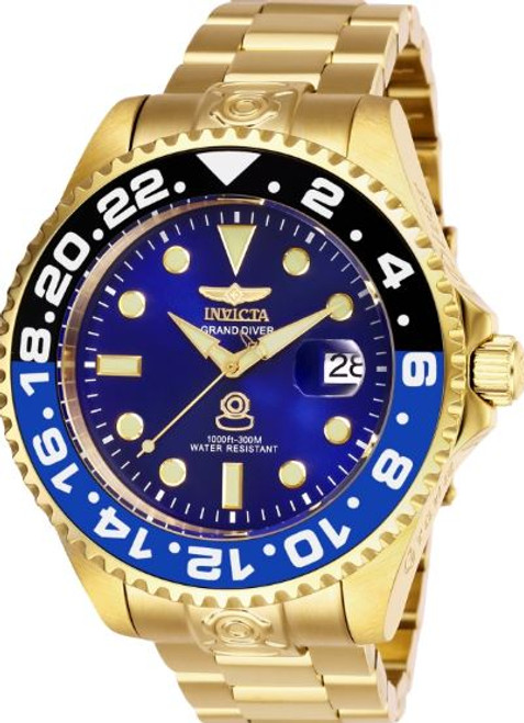 Invicta Men's 27971 Pro Diver Automatic 3 Hand Blue Dial Watch