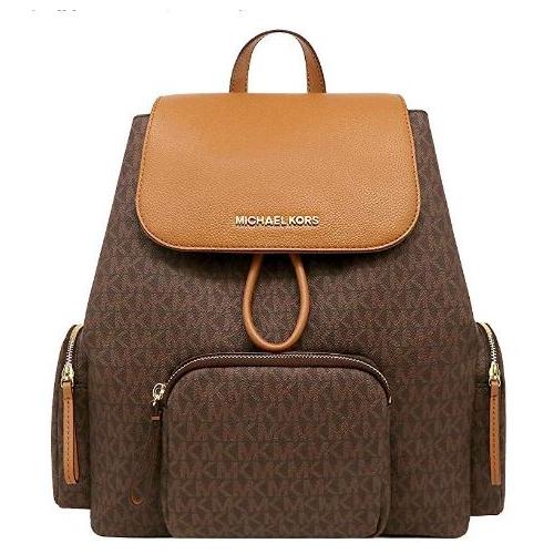 Michael Kors ABBEY CARGO PVC Backpack (BRN/ACORN) 35T9GAYB7B-847
