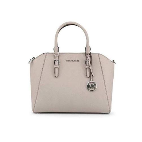 Michael Kors Large Ciara Top Zip Womens Saffiano Leather Satchel (Pearl Grey) 35H5GC6S3L-081