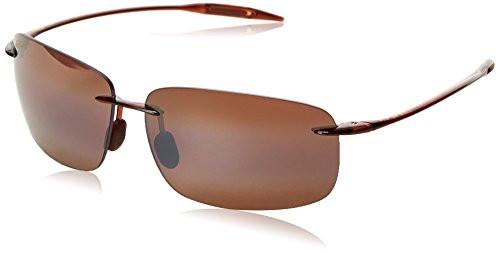 Maui Jim Breakwall H422-26 Polarized Square Sunglasses,Rootbeer Frame/HCL Bro...