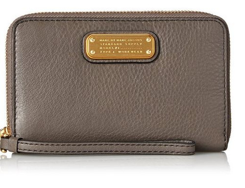 Marc by Marc Jacobs New Q Slgs Wingman Wallet, Faded Aluminum, One Size M0005358-057