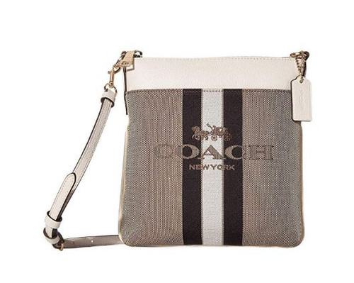 COACH Whiplash Excel Horse and Carriage Jacquard Kitt Khaki/Chalk/Gold One Size 72412-GDDJ8
