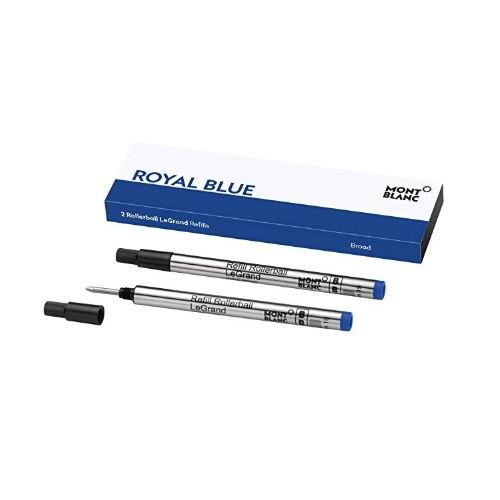 Montblanc Rollerball LeGrand Refills (B) Royal Blue 124497 – Pen Refills for Meisterstück LeGrand Rollerball Pens with a Broad Tip – 2 x Blue Pen Cartridges …