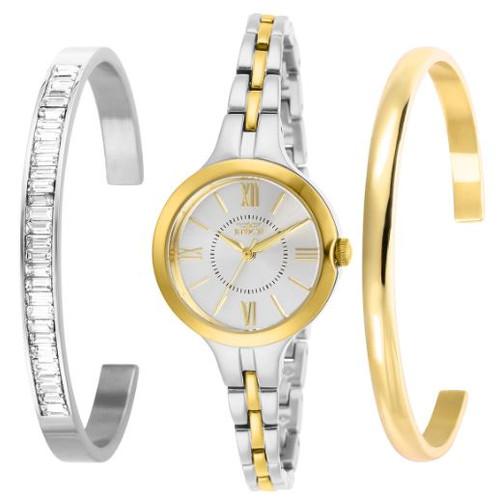 Invicta Women's 29344 Angel Quartz 3 Hand Silver Dial Watch