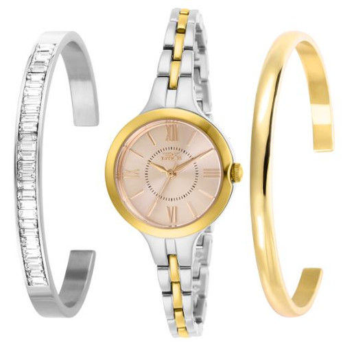 Invicta Women's 29346 Angel Quartz 3 Hand Rose Gold Dial Watch